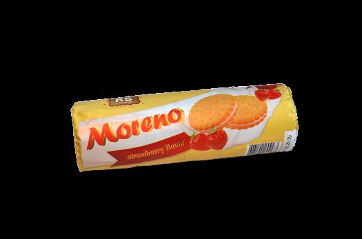 """Печенье """"Moreno"""" с начинкой со вкусом клубники, 150 г."""