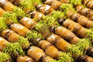 """Пахлава """"Бурма"""" мраморная с грецким орехом, 0,5 кг."""