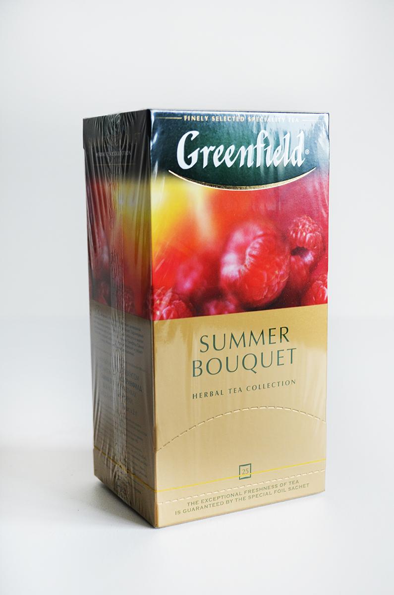чай гринфилд малина купить