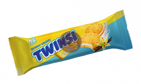 """Печенье """"TWINSI"""" с ароматом ванили, 60 г"""